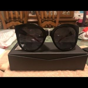 Brown Burberry large cat-Eye Sunglasses NWT